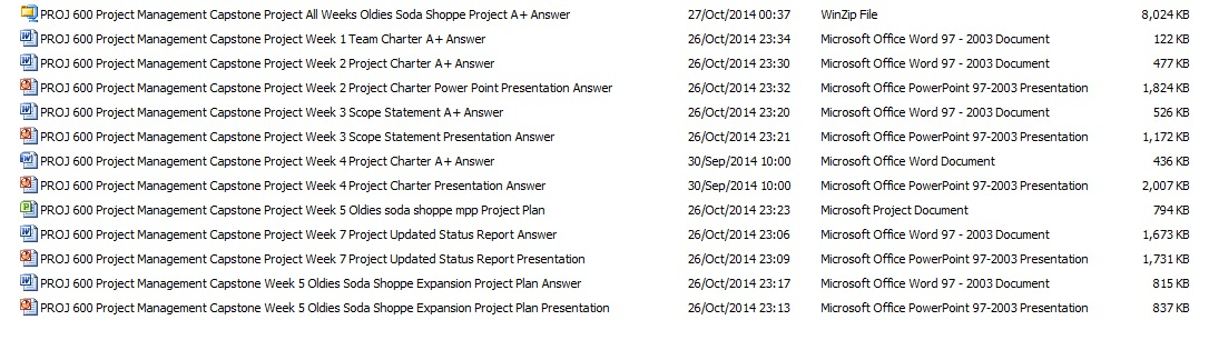 PROJ 600 All weeks Project Plan